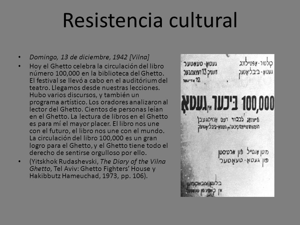 Resistencia cultural Domingo, 13 de diciembre, 1942 [Vilna]